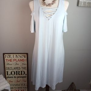 Simply Southern Cold Shoulder Dress